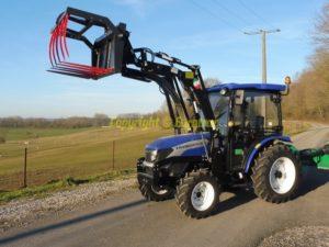 Tracteur agricole Lovol Eurotrac M254 avec Cabine et Chargeur